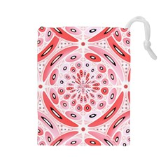 Geometric Harmony Drawstring Pouches (large)  by linceazul