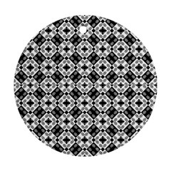 Geometric Modern Baroque Pattern Round Ornament (two Sides) by dflcprints