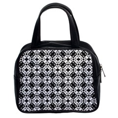 Geometric Modern Baroque Pattern Classic Handbags (2 Sides) by dflcprints