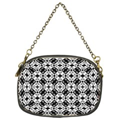 Geometric Modern Baroque Pattern Chain Purses (one Side)  by dflcprints