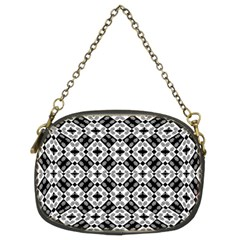Geometric Modern Baroque Pattern Chain Purses (two Sides)  by dflcprints