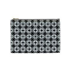 Geometric Modern Baroque Pattern Cosmetic Bag (medium)  by dflcprints