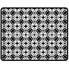Geometric Modern Baroque Pattern Fleece Blanket (medium)  by dflcprints