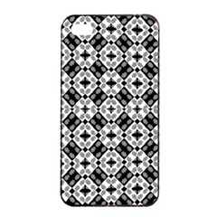Geometric Modern Baroque Pattern Apple Iphone 4/4s Seamless Case (black) by dflcprints