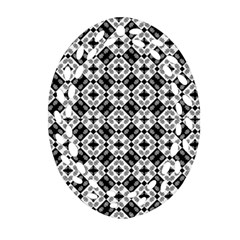 Geometric Modern Baroque Pattern Oval Filigree Ornament (two Sides) by dflcprints