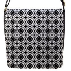 Geometric Modern Baroque Pattern Flap Messenger Bag (s) by dflcprints