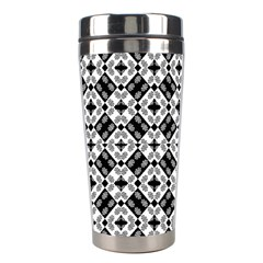 Geometric Modern Baroque Pattern Stainless Steel Travel Tumblers by dflcprints