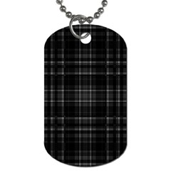 Plaid Design Dog Tag (two Sides) by Valentinaart