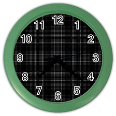 Plaid Design Color Wall Clocks by Valentinaart