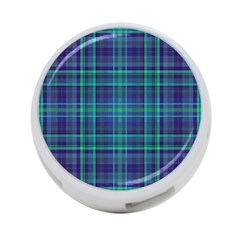 Plaid Design 4 Port Usb Hub (two Sides)  by Valentinaart