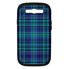 Plaid Design Samsung Galaxy S Iii Hardshell Case (pc+silicone) by Valentinaart