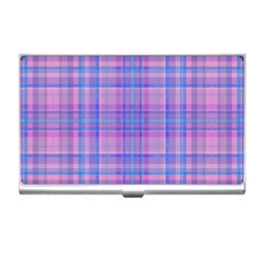 Plaid Design Business Card Holders by Valentinaart