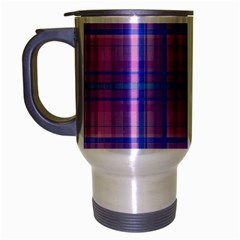 Plaid Design Travel Mug (silver Gray) by Valentinaart