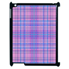 Plaid Design Apple Ipad 2 Case (black) by Valentinaart