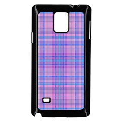 Plaid Design Samsung Galaxy Note 4 Case (black) by Valentinaart