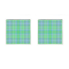 Plaid Design Cufflinks (square) by Valentinaart