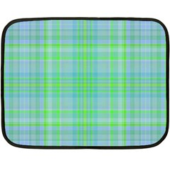 Plaid Design Fleece Blanket (mini) by Valentinaart