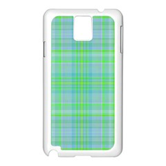 Plaid Design Samsung Galaxy Note 3 N9005 Case (white)
