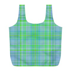 Plaid Design Full Print Recycle Bags (l)  by Valentinaart