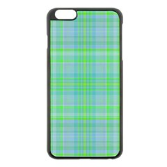 Plaid Design Apple Iphone 6 Plus/6s Plus Black Enamel Case by Valentinaart
