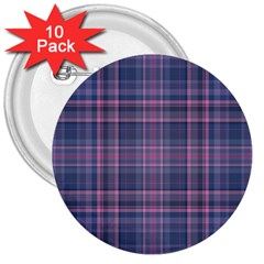 Plaid Design 3  Buttons (10 Pack)  by Valentinaart