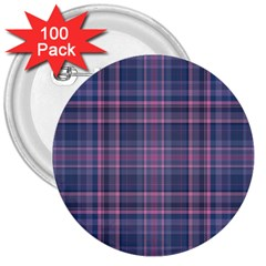 Plaid Design 3  Buttons (100 Pack)  by Valentinaart