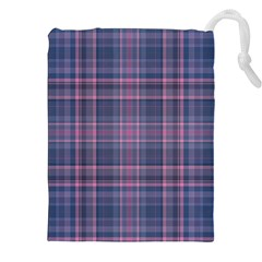 Plaid Design Drawstring Pouches (xxl) by Valentinaart