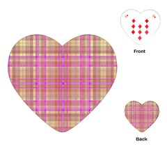 Plaid Design Playing Cards (heart)  by Valentinaart