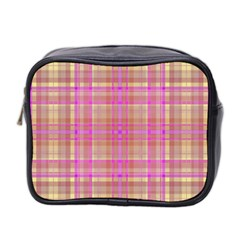 Plaid Design Mini Toiletries Bag 2 Side by Valentinaart