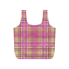 Plaid Design Full Print Recycle Bags (s)  by Valentinaart
