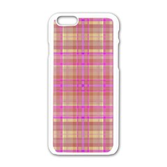 Plaid Design Apple Iphone 6/6s White Enamel Case by Valentinaart