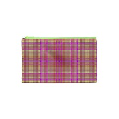 Plaid Design Cosmetic Bag (xs) by Valentinaart