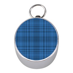 Plaid Design Mini Silver Compasses by Valentinaart