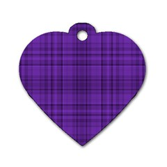 Plaid Design Dog Tag Heart (two Sides) by Valentinaart