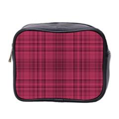 Plaid Design Mini Toiletries Bag 2 Side by Valentinaart
