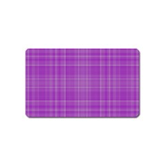 Plaid Design Magnet (name Card) by Valentinaart