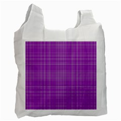 Plaid Design Recycle Bag (one Side) by Valentinaart