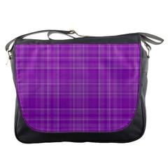Plaid Design Messenger Bags by Valentinaart