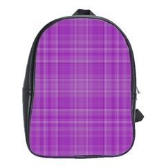Plaid Design School Bags (xl)  by Valentinaart