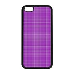 Plaid Design Apple Iphone 5c Seamless Case (black) by Valentinaart