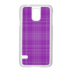 Plaid Design Samsung Galaxy S5 Case (white) by Valentinaart