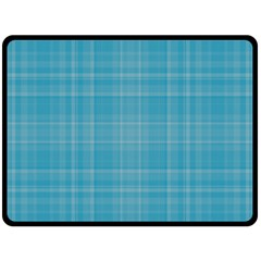 Plaid Design Double Sided Fleece Blanket (large)  by Valentinaart