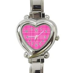 Plaid Design Heart Italian Charm Watch by Valentinaart