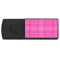 Plaid Design Usb Flash Drive Rectangular (4 Gb) by Valentinaart