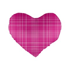 Plaid Design Standard 16  Premium Flano Heart Shape Cushions by Valentinaart