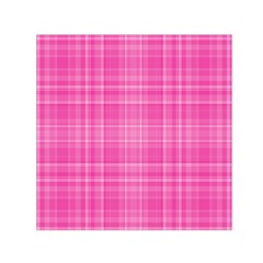 Plaid Design Small Satin Scarf (square) by Valentinaart