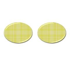 Plaid Design Cufflinks (oval) by Valentinaart