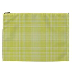 Plaid Design Cosmetic Bag (xxl)  by Valentinaart