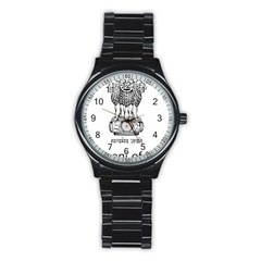 Seal Of Indian State Of Mizoram Stainless Steel Round Watch by abbeyz71