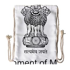 Seal Of Indian State Of Mizoram Drawstring Bag (large) by abbeyz71